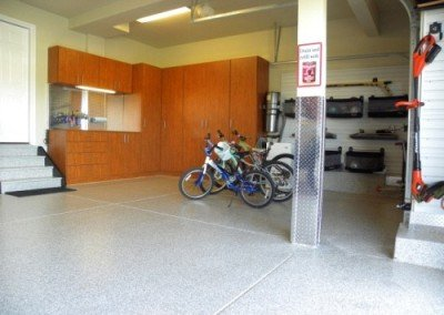 Finished Denver Garage Flooring and Cabinets
