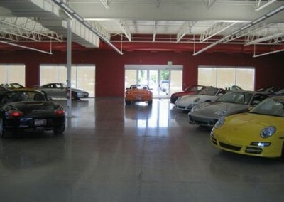 Commercial garage flooring - clear seal
