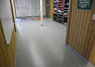Commercial garage floor coating