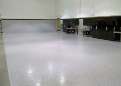 Commercial shop floor coating