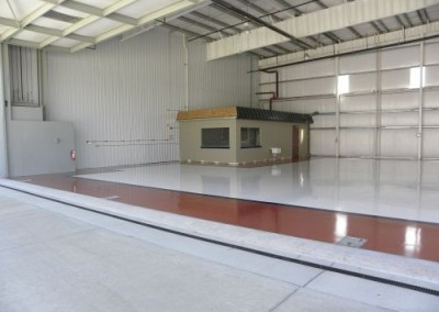 Commercial floor coating - hangar